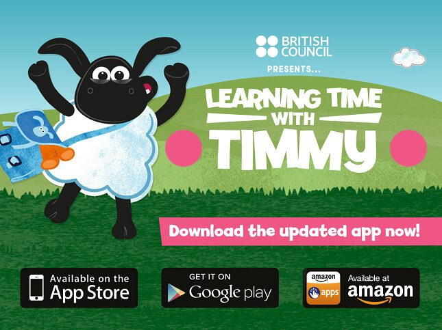 App học tiếng anh cho bé Learning time with Timmy