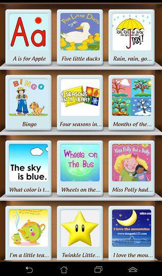 E Kid Songs - Phần mềm học tiếng Anh qua bài hát